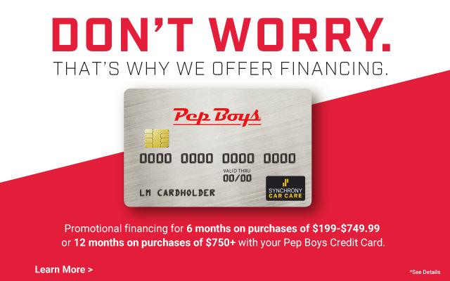 Pep Boys Credit Card