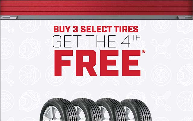 Buy 3 Get 4 Tires